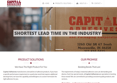 CAPITAL ADHESIVES | WEBSITE DESIGN