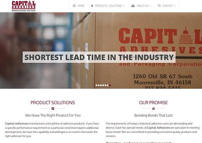 CAPITAL ADHESIVES | WEBSITE DESIGN